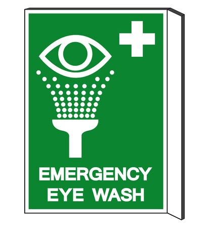 Emergency Eye Wash Symbol Sign, Vector Illustration, Isolate On White Background Label. EPS10