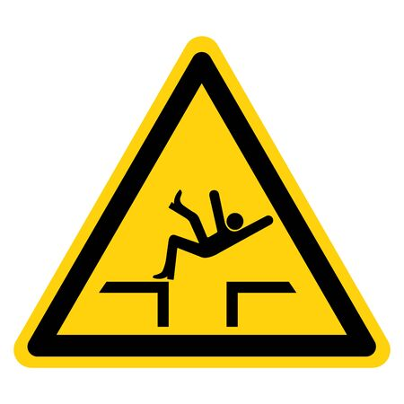 Fall Hazard Symbol Sign, Vector Illustration, Isolate On White Background Label .EPS10 向量圖像
