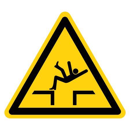 Fall Hazard Symbol Sign, Vector Illustration, Isolate On White Background Label .EPS10 Illustration