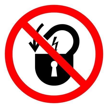 Injury Hazard Lock Out Electrical Power Symbol Sign, Vector Illustration, Isolate On White Background Label .EPS10 Ilustração