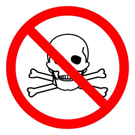 Injury Hazard Toxic Material Symbol Sign, Vector Illustration, Isolate On White Background Label .EPS10