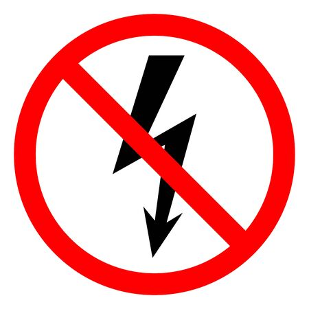Injury Hazard Danger Electricity Symbol Sign ,Vector Illustration, Isolate On White Background Label. EPS10