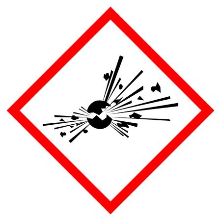 Explosive Symbol Sign, Vector Illustration, Isolate On White Background Label.