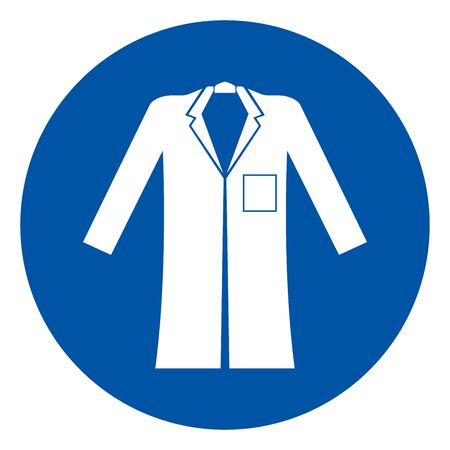 Wear Coat Symbol Sign,Vector Illustration, Isolated On White Background Label. EPS10