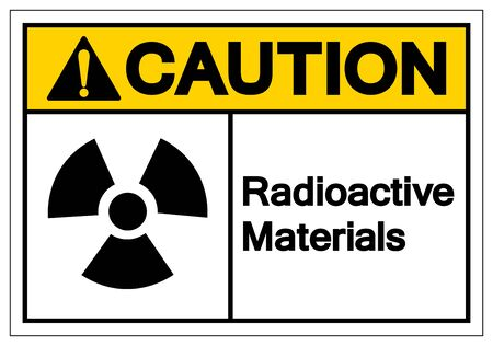Caution Radioactive Materials Symbol Sign, Vector Illustration, Isolate On White Background Label.