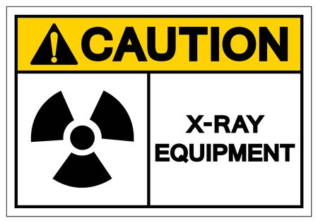 Caution X-Ray Equipment Symbol Sign, Vector Illustration, Isolate On White Background Label