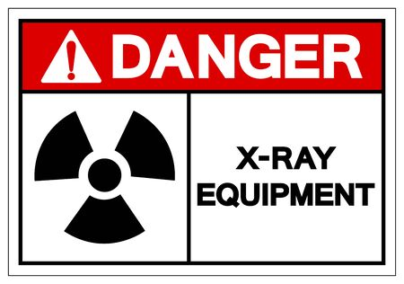 Danger X-Ray Equipment Symbol Sign, Vector Illustration, Isolate On White Background Label Çizim
