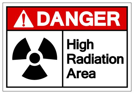 Danger High Radiation Area Symbol Sign, Vector Illustration, Isolate On White Background Label