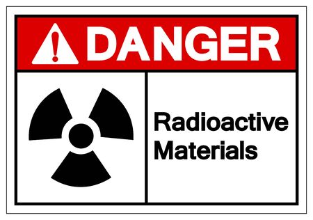 Danger Radioactive Materials Symbol Sign, Vector Illustration, Isolate On White Background Label Çizim