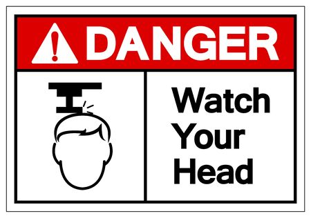 Danger Watch Your Head Symbol Sign, Vector Illustration, Isolate On White Background Label