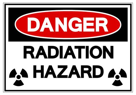 Danger Radiation Hazard Symbol Sign, Vector Illustration, Isolate On White Background Label