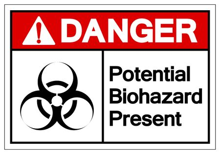 Danger Potential Biohazard Present Symbol Sign, Vector Illustration, Isolated On White Background Label