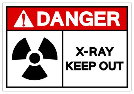 Danger X-Ray Keep Out Symbol Sign, Vector Illustration, Isolate On White Background Label