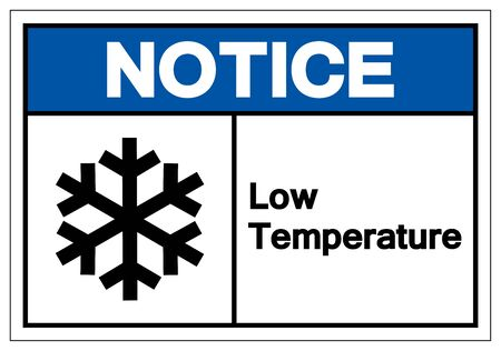 Notice Low Temperature Symbol Sign, Vector Illustration, Isolated On White Background Label .EPS10