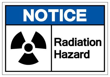 Notice Radiation Hazard Symbol Sign, Vector Illustration, Isolate On White Background Label. EPS10 Иллюстрация