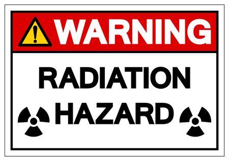 Warning Radiation Hazard Symbol Sign, Vector Illustration, Isolate On White Background Label. EPS10