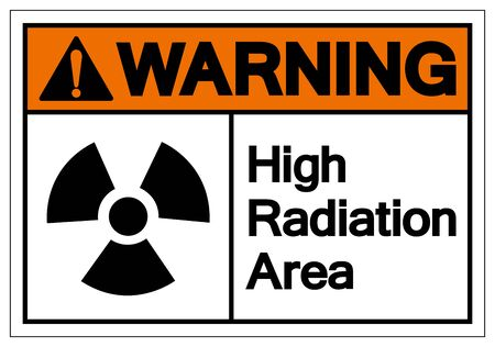 Warning High Radiation Area Symbol Sign, Vector Illustration, Isolate On White Background Label. EPS10