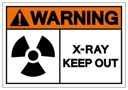 Warning X-Ray Keep Out Symbol Sign, Vector Illustration, Isolate On White Background Label. EPS10 Illustration
