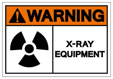 Warning X-Ray Equipment Symbol Sign, Vector Illustration, Isolate On White Background Label. EPS10