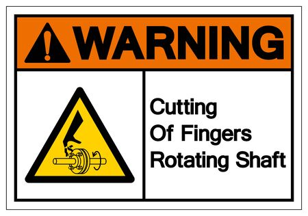 Warning Cutting of Fingers Rotating Shaft Symbol Sign, Vector Illustration, Isolate On White Background Label