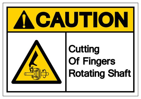 Caution Cutting of Fingers Rotating Shaft Symbol Sign, Vector Illustration, Isolate On White Background Label Stock Illustratie