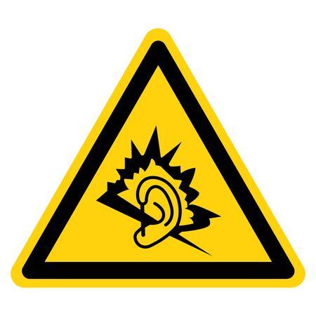 Danger Noise Symbol Sign ,Vector Illustration, Isolate On White Background Label.