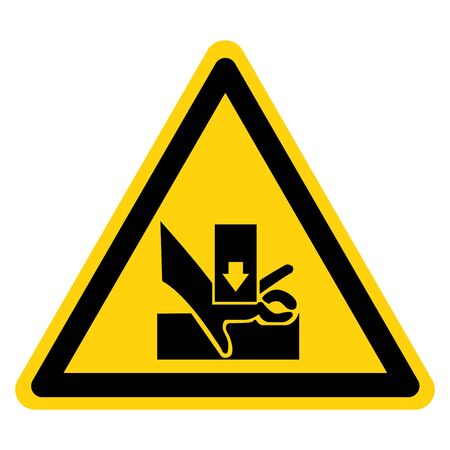 Beware You Hand When Using Silkscreen Symbol Sign, Vector Illustration, Isolated On White Background Icon.