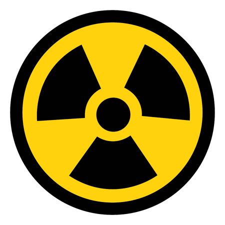 Straling traditioneel gevaar symbool teken, vectorillustratie, geïsoleerd op een witte achtergrond pictogram.