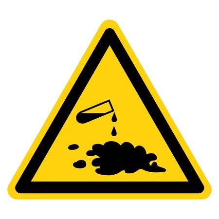 Beware Chemical Spill Symbol Sign, Vector Illustration, Isolate On White Background Label
