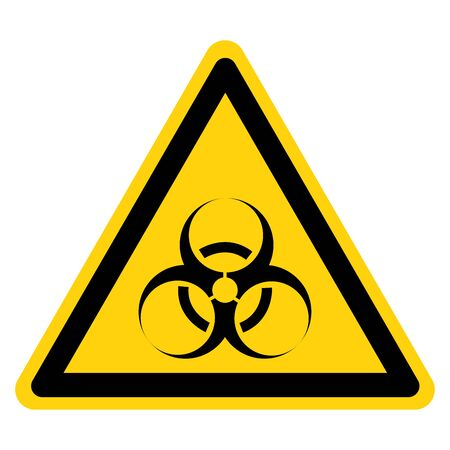 Beware Biological Hazard Symbol, Vector Illustration, Isolate On White Background Label.  イラスト・ベクター素材