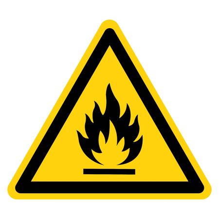 Beware Flammable Gas Symbol, Vector Illustration, Isolate On White Background Label.