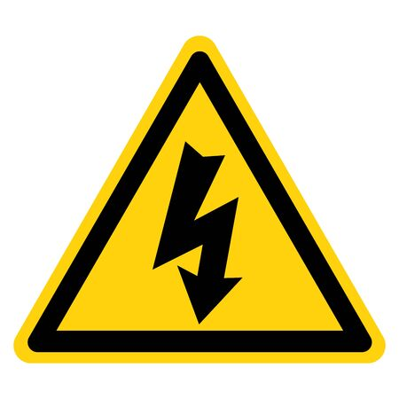 Danger High Voltage Symbol Sign, Vector Illustration, Isolate On White Background Label.
