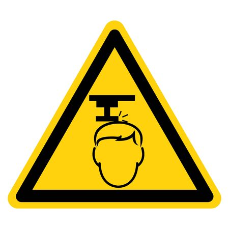 Beware Overhead Hazard Symbol, Vector Illustration, Isolate On White Background Label. Иллюстрация