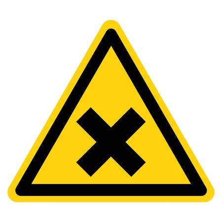Beware Irritant Symbol Yellow Sign, Vector Illustration, Isolate On White Background Label.