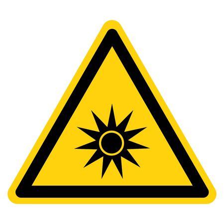 Beware Optical Radiation Symbol, Vector Illustration, Isolate On White Background Label.