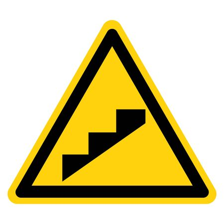 Beware Slope Step Symbol, Vector Illustration, Isolate On White Background Label.