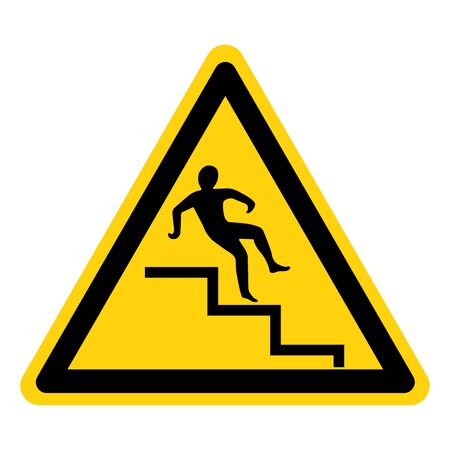 Beware Step Symbol, Vector Illustration, Isolate On White Background Label.