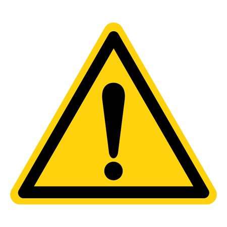 Caution yellow Sign,Vector Illustration, Isolate On White Background Label. Çizim