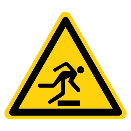 Beware Obstacles Symbol Sign, Vector Illustration, Isolate On White Background Label Çizim