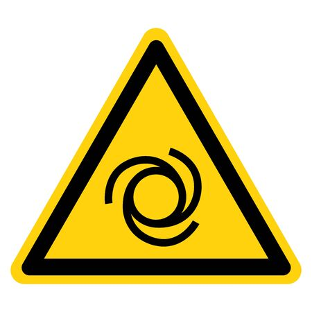 Beware Automatic Start-Up Symbol, Vector Illustration, Isolate On White Background Label. Stok Fotoğraf - 129774570