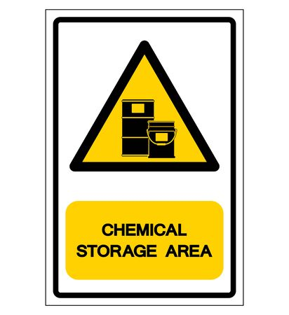 Chemical Storage Area Symbol, Vector Illustration, Isolate On White Background Label.