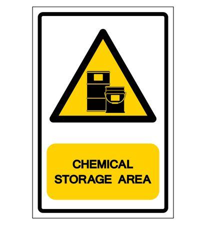 Chemical Storage Area Symbol, Vector Illustration, Isolate On White Background Label. Vektorové ilustrace