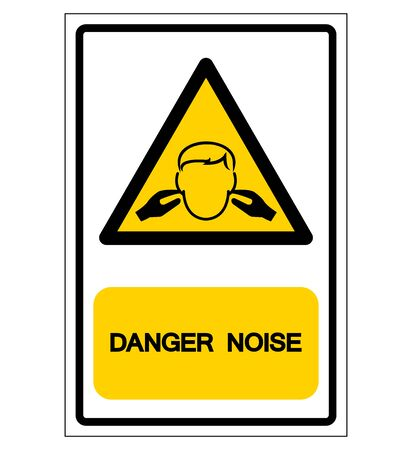 Danger Noise Symbol, Vector Illustration, Isolate On White Background Label.