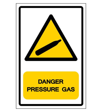 Danger Pressure Gas Symbol Sign, Vector Illustration, Isolate On White Background, Label Sticker,Label.
