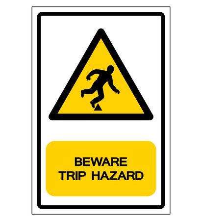Danger Trip Hazard Symbol Sign,Vector Illustration, Isolate On White Background Label.