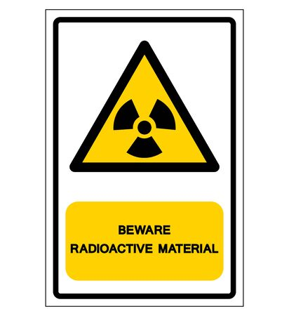 Radiation Hazard Symbol Sign,Vector Illustration, Isolated On White Background Label.