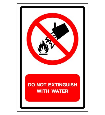 Do Not Extinguish With Water Symbol Sign, Vector Illustration, Isolate On White Background Label .EPS10  Ilustrace