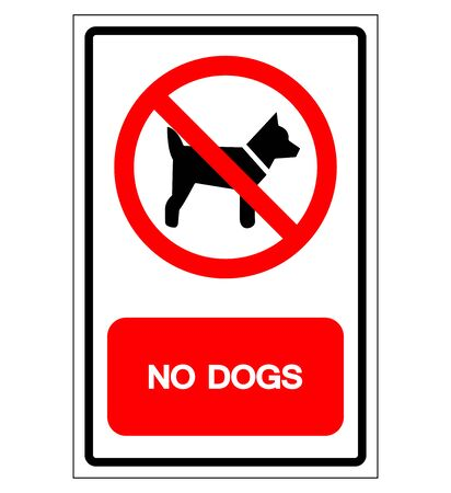 No Dogs Symbol Sign, Vector Illustration, Isolate On White Background Label .EPS10  Ilustrace