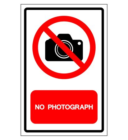 No Photograph Symbol Sign, Vector Illustration, Isolate On White Background Label .EPS10  Ilustrace