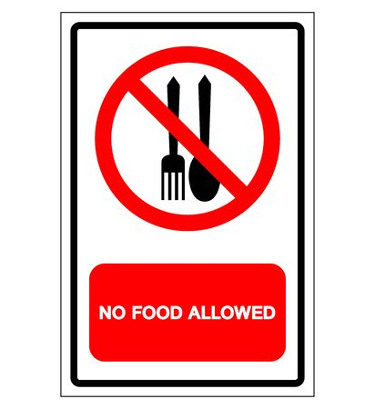 No Food Allowed Symbol Sign, Vector Illustration, Isolate On White Background Label .EPS10
